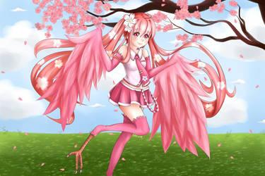 Sakura Miku Harpy by sakuradesune