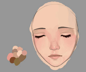 Painterly face test