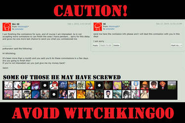 Comish. Review ~ Witchking00 by polkanator