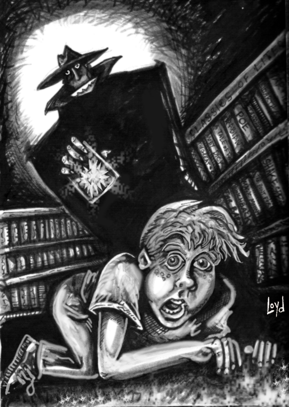 """The Library Policeman"", by illustrator ""The House of Ideas"" on Deviantart"