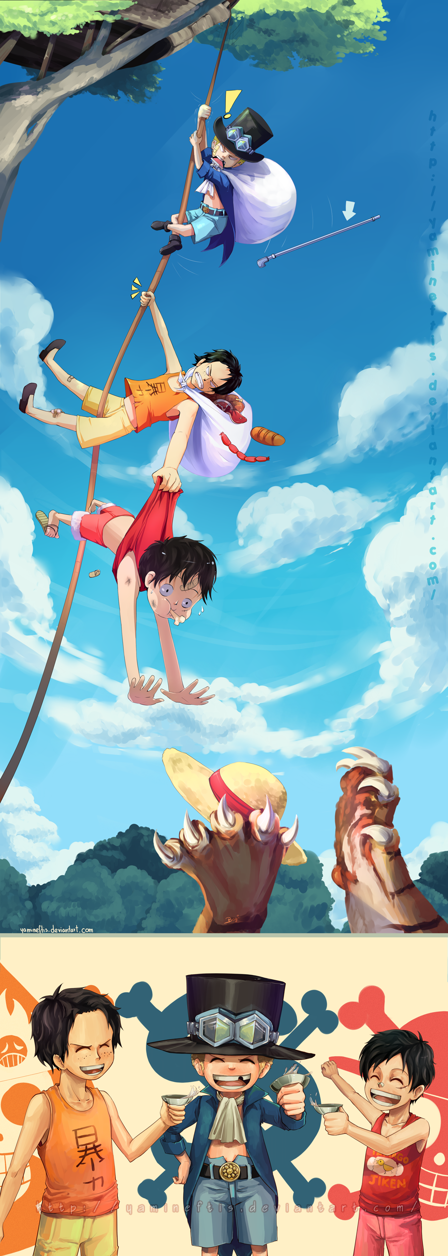 OP: Ace Sabo Luffy 'Brothers' by Yamineftis on DeviantArt