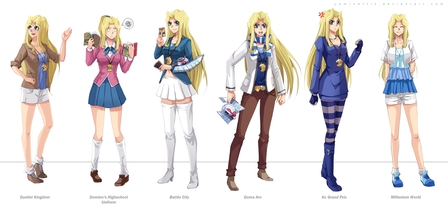 Yugioh: Sam Pegasus' outfits by Yamineftis