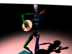 Biped playing the Banjo