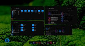Pearl Blue Dark Icon Theme for Windows 10