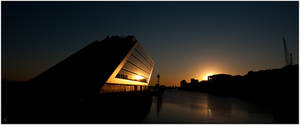 Dockland at sunset