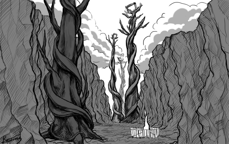 Skysprout Valley sketch by Respeanut on DeviantArt on