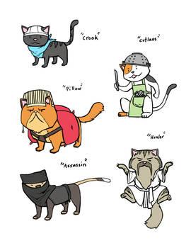 Concept sketch- Cat Classes