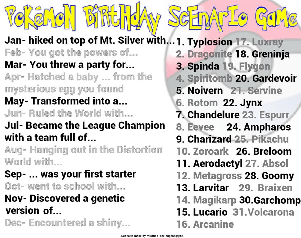 Pokemon Special Birthday Scenario Game by Yukihitomi on DeviantArt