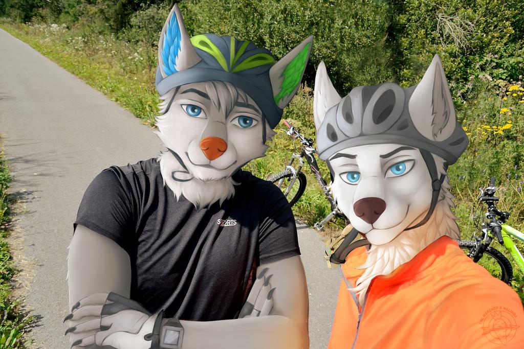 [ COMMISSION ] Bike boys for Wegiel Wolf by Marchef-Iustinianie