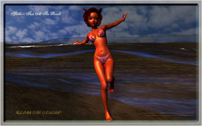 !Yuiko - Fun At The Beach by De3pBl4ck