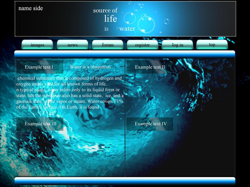 Water webside by baticzio on DeviantArt