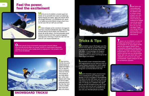 Magazine Layout 2 School Proje By Kosugy On Deviantart