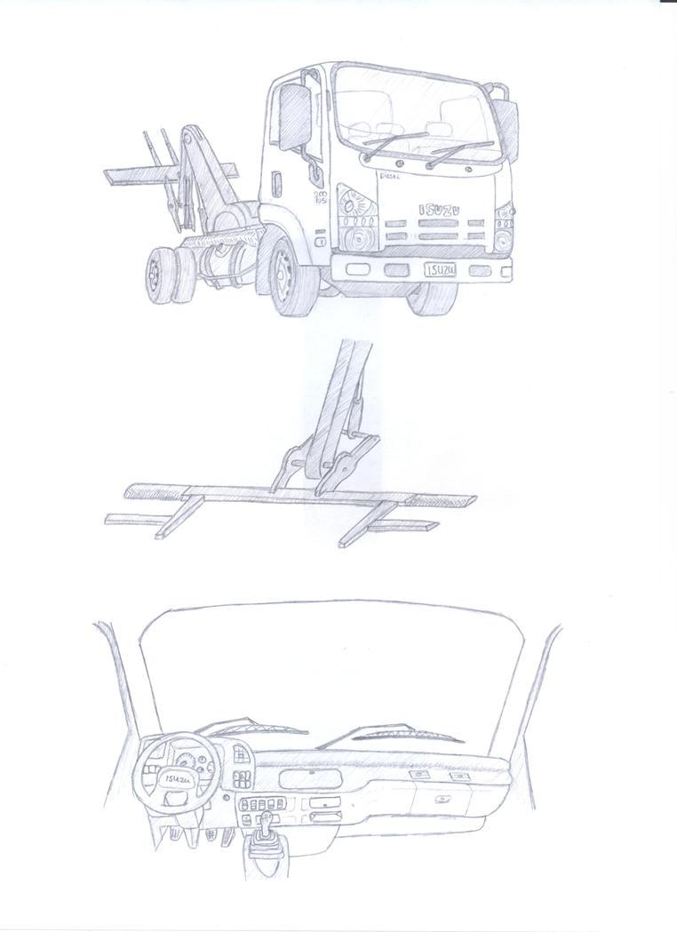 isuzu n series tow truck by samipie on deviantart