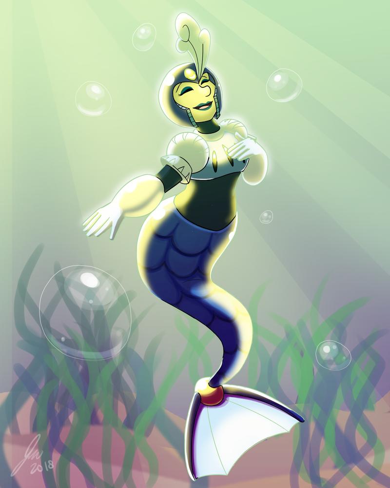 Remake of Splashwoman by FlightBotJetwing