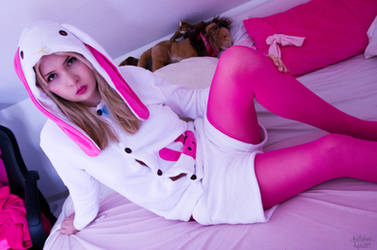 Bunny Hoodie Girl by NatalyaLycan