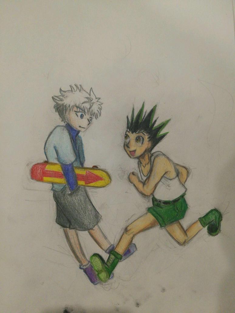 gon and killua by chexie101