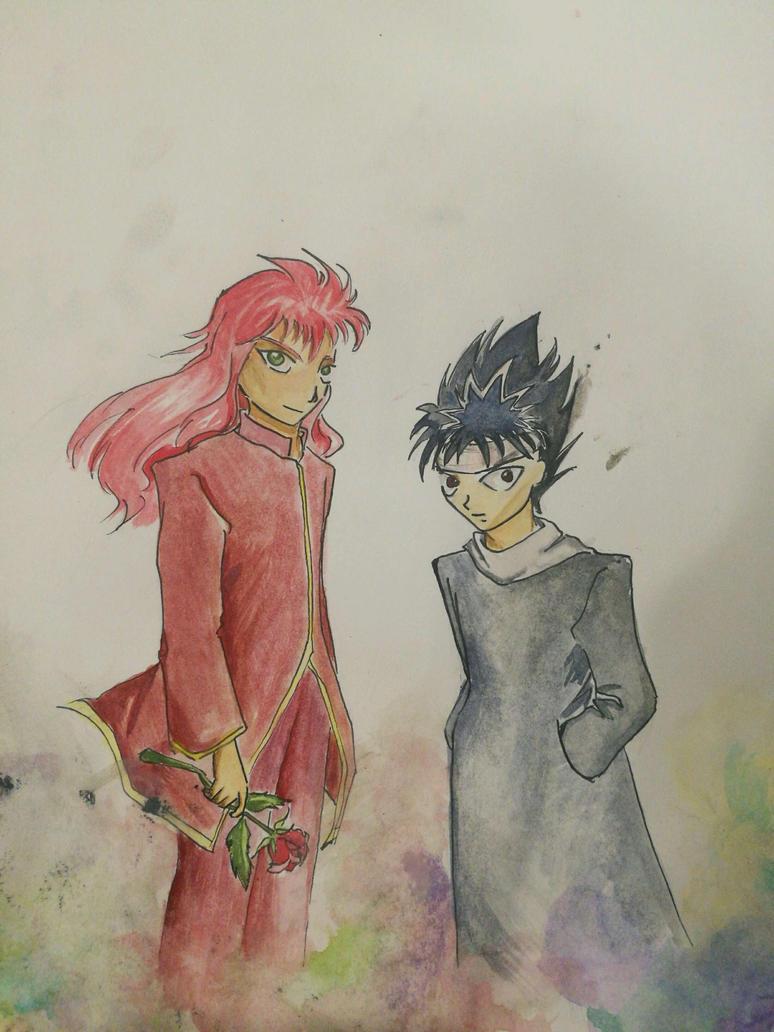 Hiei and Kurama by chexie101
