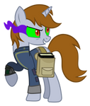 Evil littlepip with the black book