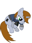 Littlepip  jumped