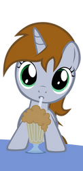 Littlepip filly  milkshake by aborrozakale