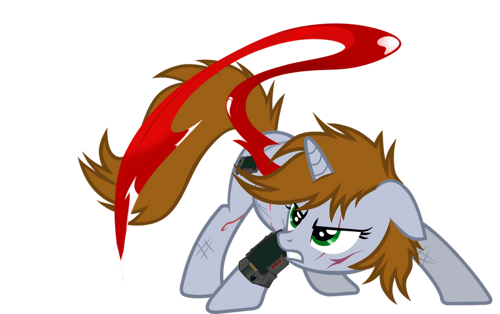 Littlepip blood army (beta) by aborrozakale