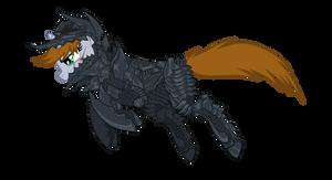 Littlepip Gundyr Obsidian Armor
