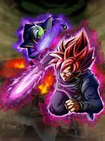Goku Black And Zamasu Dragon Ball Super by JyuNanohara