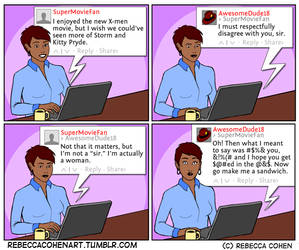 Being a Woman Online