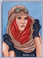 Mara Jade ACEO by Rathskeller7