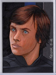 Luke Skywalker ACEO by Rathskeller7