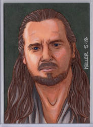 Qui-Gon Jinn ACEO by Rathskeller7