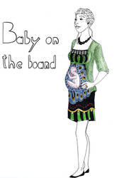 Baby on the board by iove