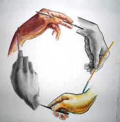 Hand drawn hand by RekTruk