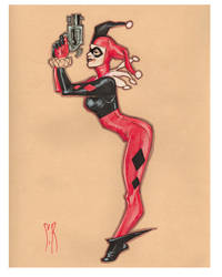 Harley with Gun by StephaneRoux