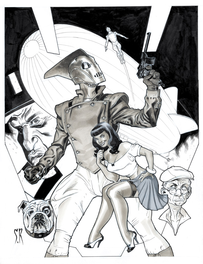 Rocketeer commission by StephaneRoux