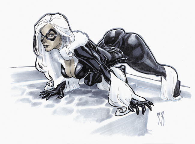 Black Cat con sketch by StephaneRoux