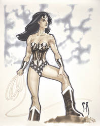 Wonder Woman Sketch by StephaneRoux