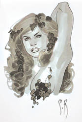 Poison Ivy Head Sketch by StephaneRoux