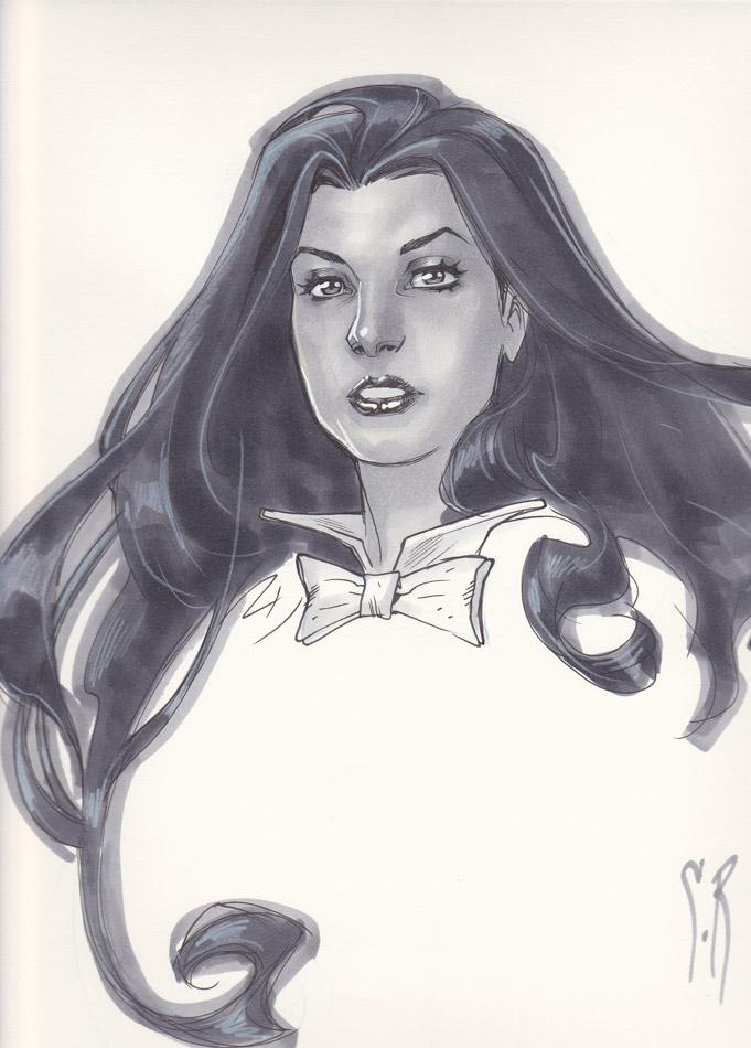Zatanna Headsketch by StephaneRoux
