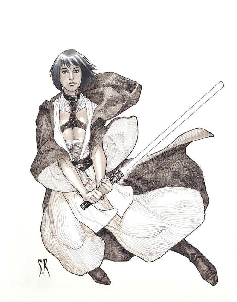 Jedi Mistress Greytones by StephaneRoux