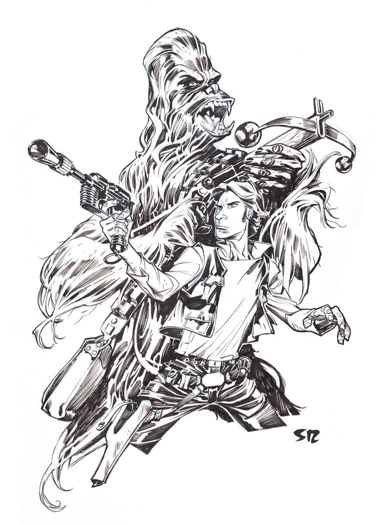 Han and Chewie by StephaneRoux