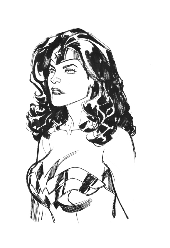 Wonder woman head sketch by StephaneRoux