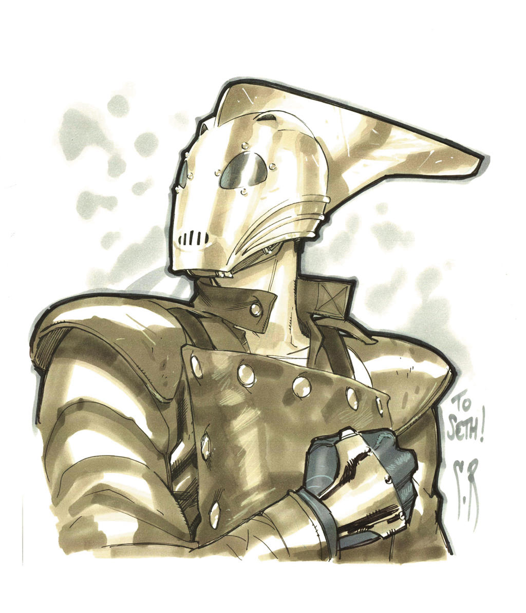 Rocketeer head sketch by StephaneRoux