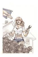 Supurbia  01 cover Original art by StephaneRoux