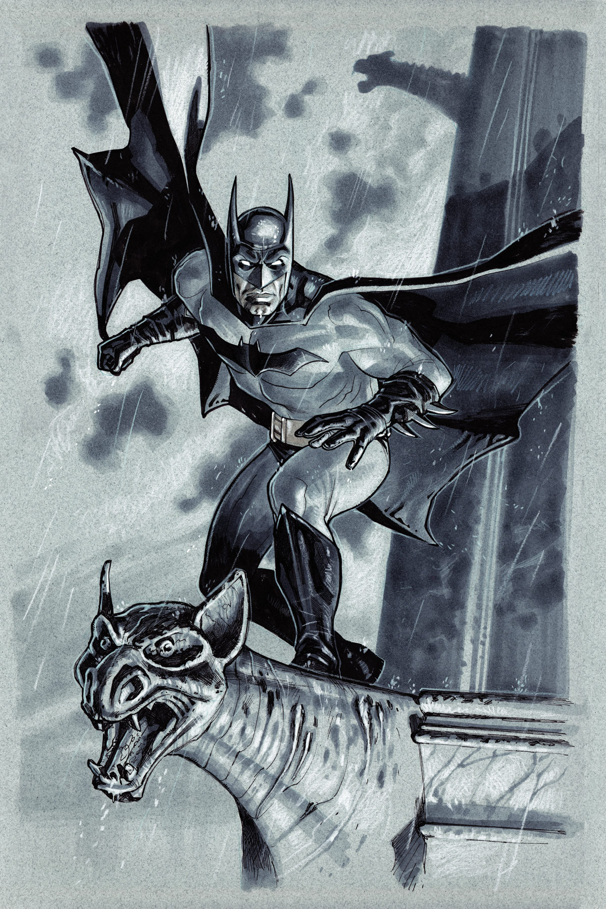 Batman Pre-done commission by StephaneRoux