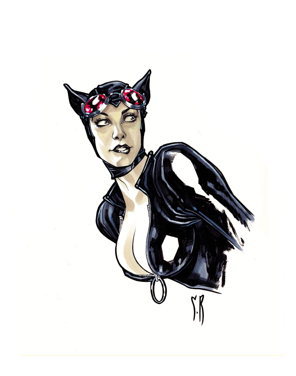 Catwoman Bust by StephaneRoux