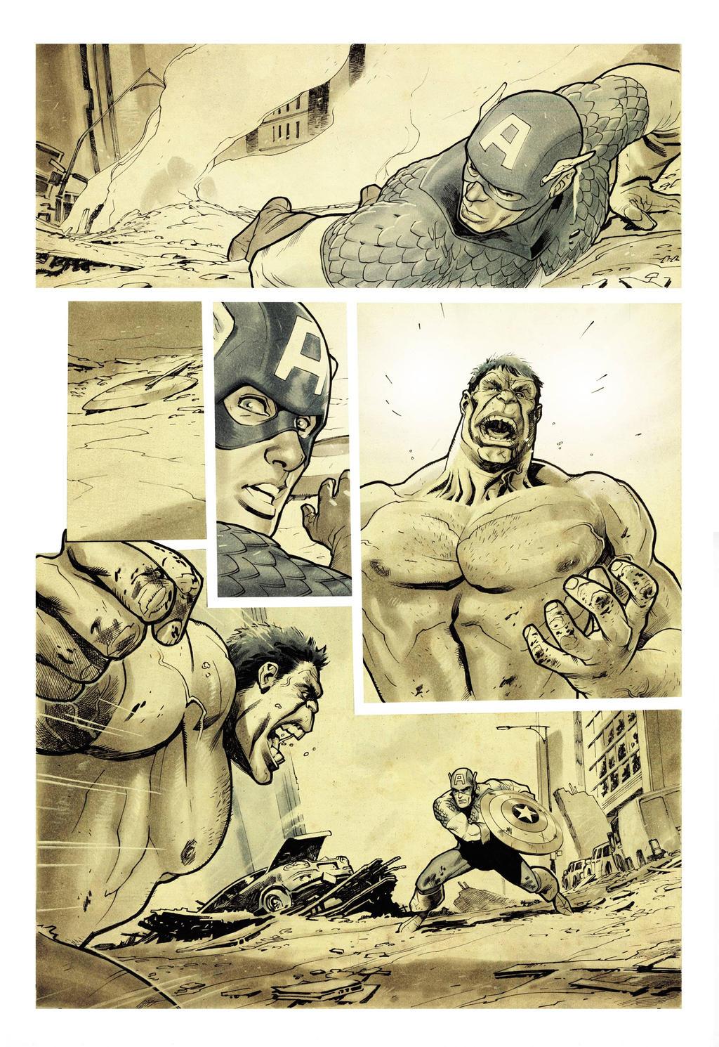 Hulk smash Captain America by StephaneRoux