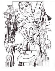 Watchmen Drink n( Draw Paris by StephaneRoux