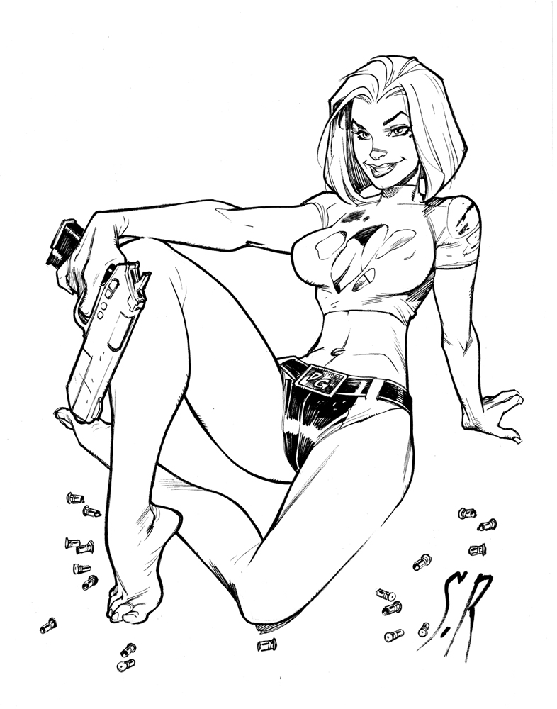 Abbey Chase Danger Girl Commission by StephaneRoux