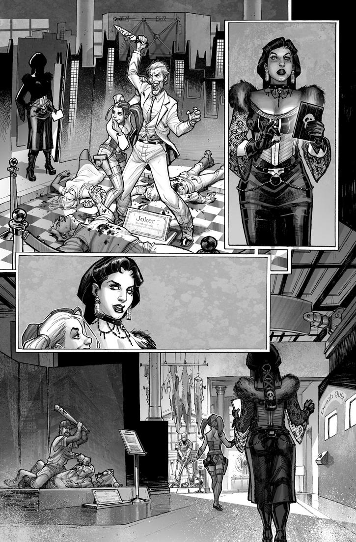Harley Quinn  Issue # 2 Page 2 Inks with Greytones by StephaneRoux